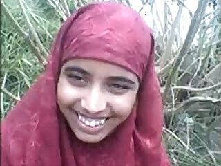 desi Bangla muslim Hijab beauty in forest
