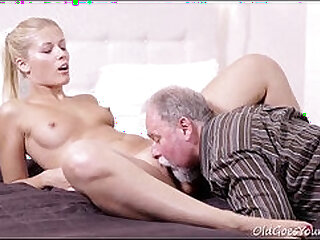 Old goes young - elena can t believe how good this old man is at having sex
