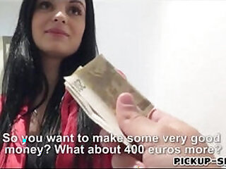 Eurobabe gets her pussy banged in exchange for money