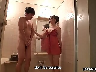 Good looking Asian fairy eagerly takes away shy virginity