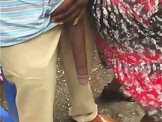 Huge! Big Black mamba Dick Flash in Public Bus Stop