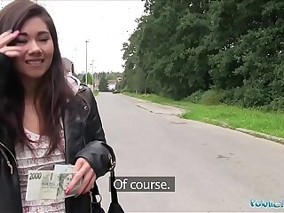 Public Agent Asian cutie gets fucked by a stranger for money